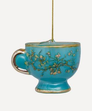 Van Gogh Teapot Glass Tree Ornament
