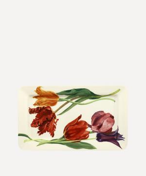 Flowers Tulips Medium Oblong Plate