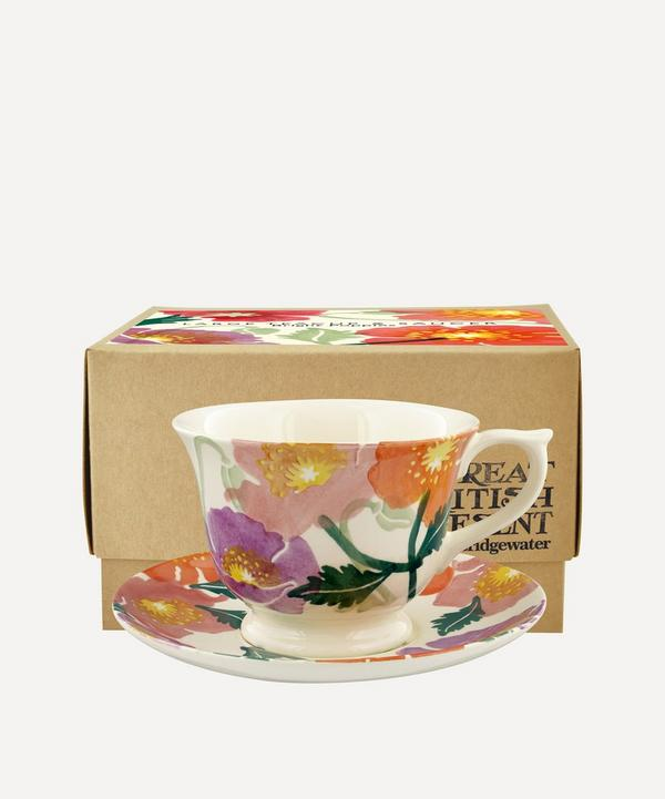 Emma Bridgewater - Bright Poppies Large Teacup and Saucer Set