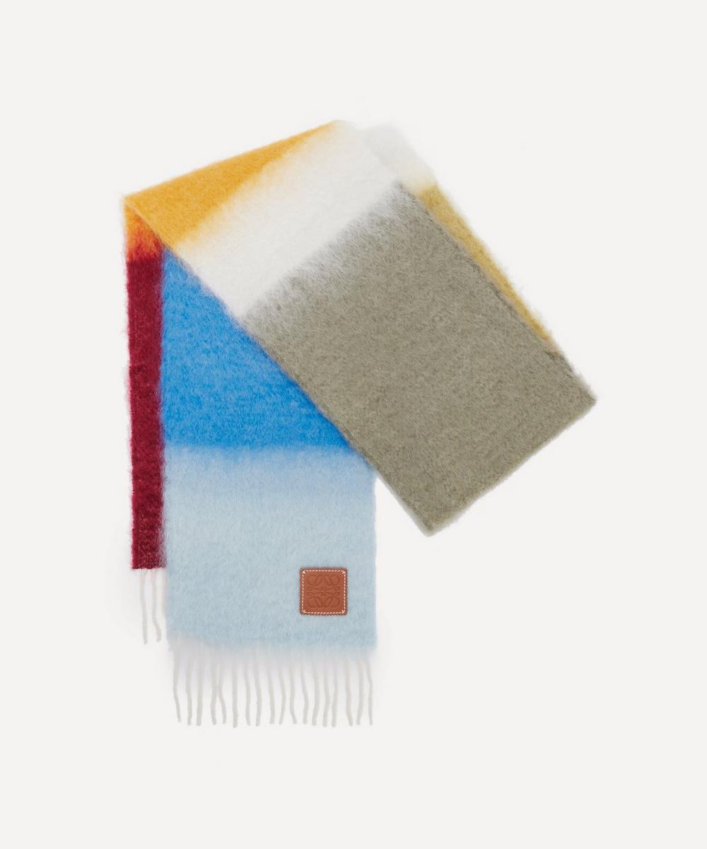 Loewe - Striped Mohair-Blend Scarf