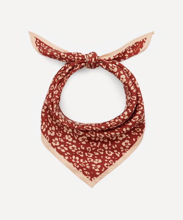 Lily and Lionel - Floral Leopard Print Silk Necktie