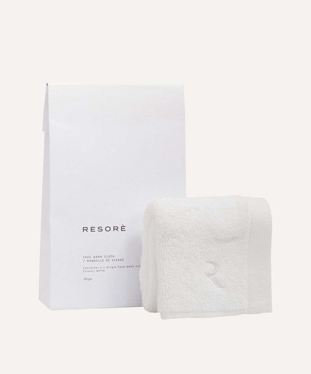 Resorè - Face Towel in White