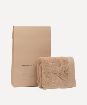 Face Towel in Toasted Almond