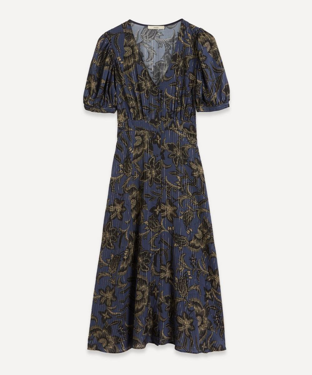 Sessùn - Wayan Metallic Stripe Maxi-Dress