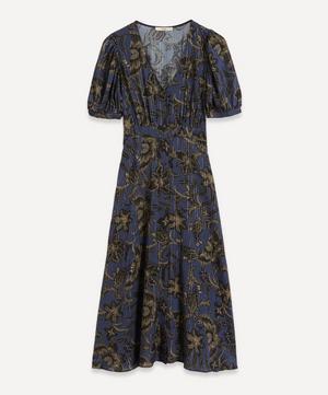 Wayan Metallic Stripe Maxi-Dress