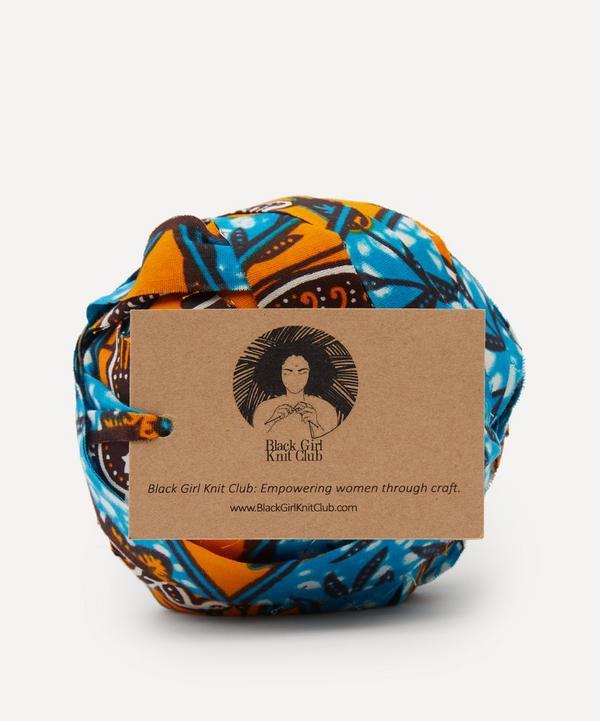 Black Girl Knit Club - Upcycled Wax Print Peacock Yarn