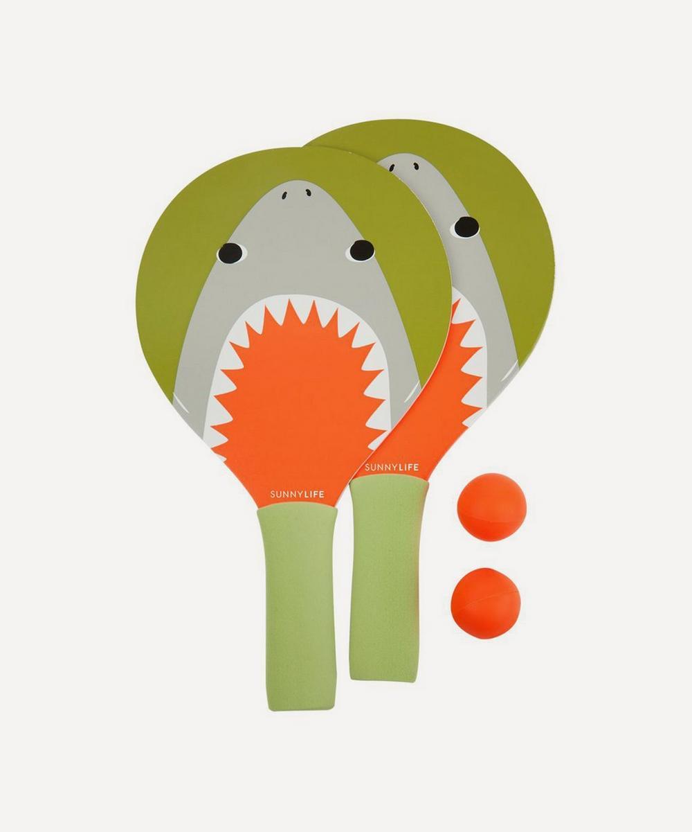 Sunnylife - Shark Attack Mini Beach Bat Set