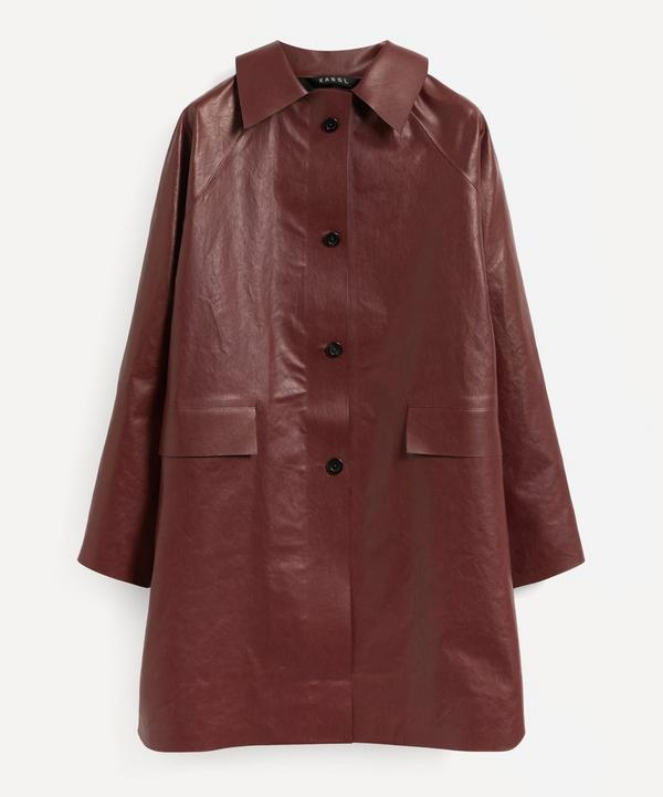 KASSL Editions - Above The Knee Coated Trench Coat