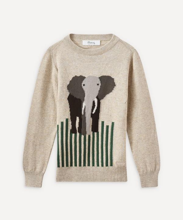 Bonpoint - Jacquard Elephant Sweater 4 Years
