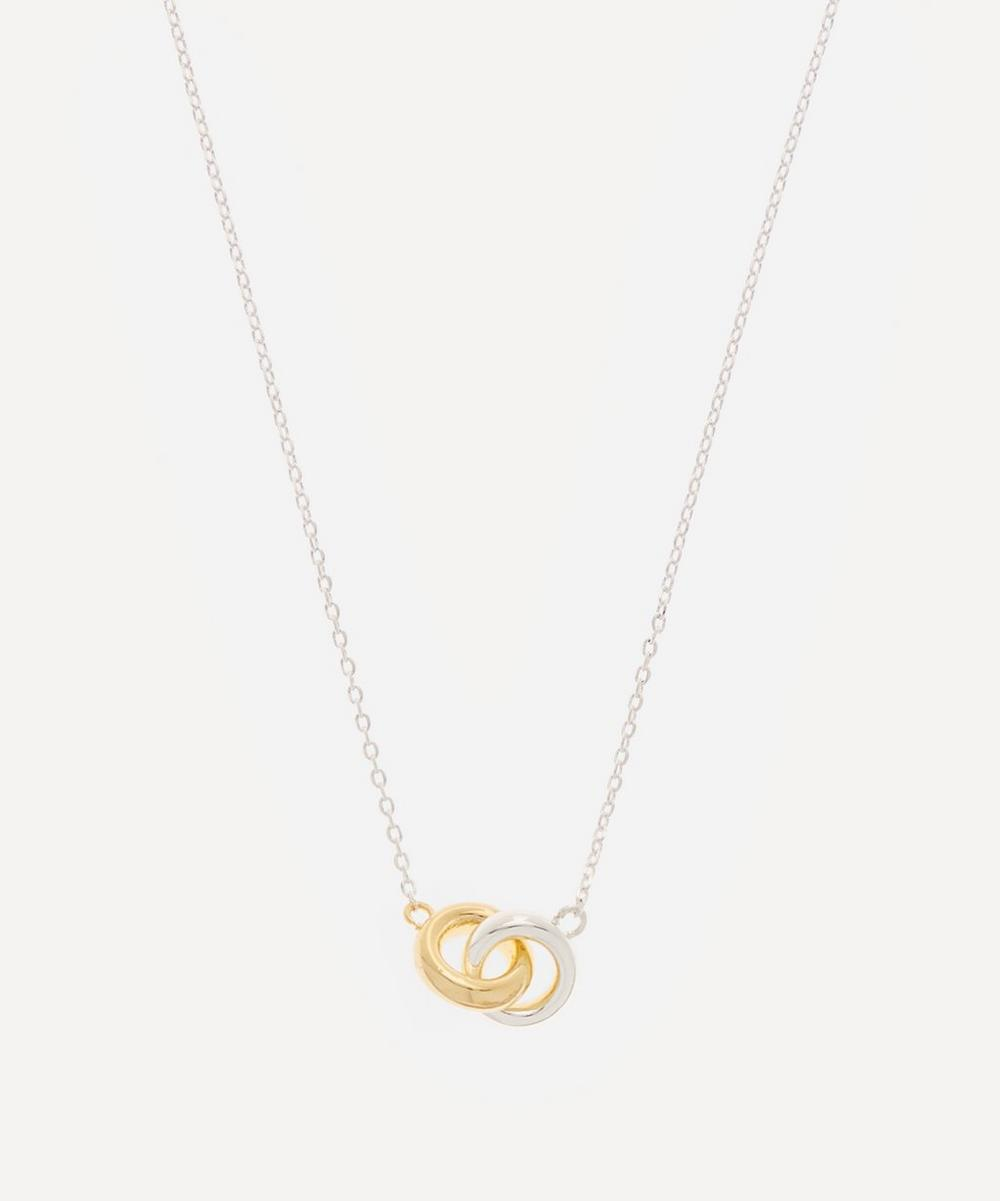 Estella Bartlett Necklaces SILVER-PLATED CHUNKY INTERLINKED RINGS PENDANT NECKLACE