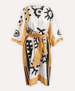 Sun-Eye Embroidered Kaftan Dress