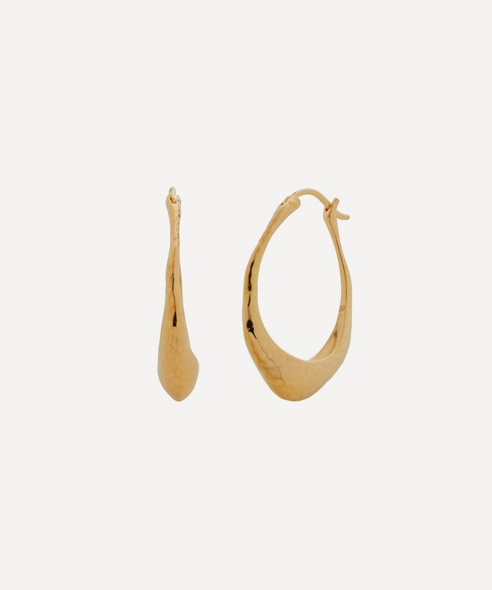 Monica Vinader Earrings GOLD PLATED VERMEIL SILVER DEIA HOOP EARRINGS