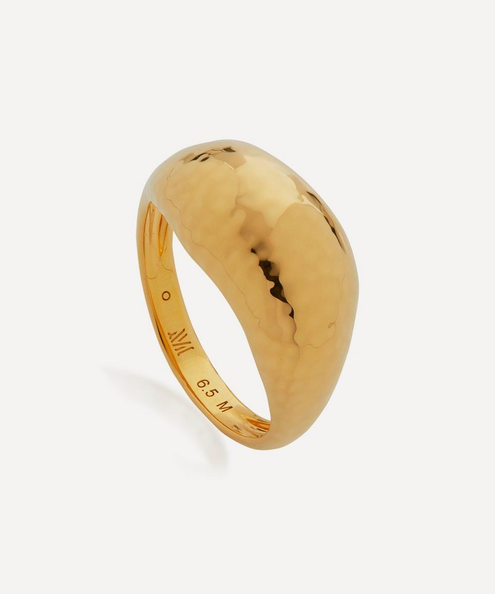 Monica Vinader Rings GOLD PLATED VERMEIL SILVER DEIA DOMED RING
