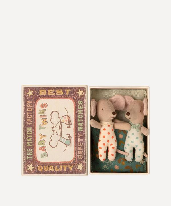 Maileg - Mice Twins in Matchbox Toy