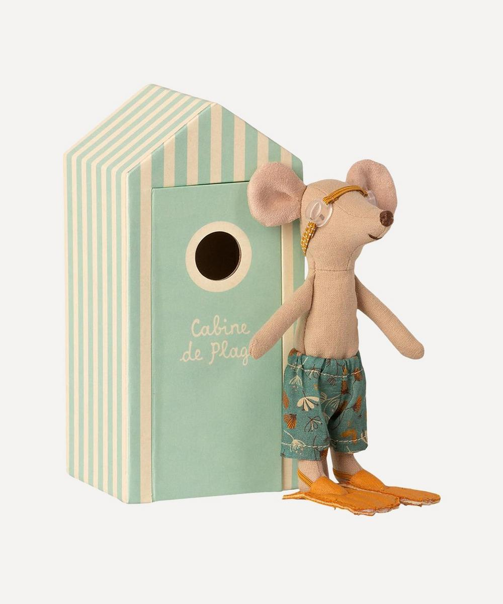 Maileg - Big Brother Mouse in Cabin de Plage Toy