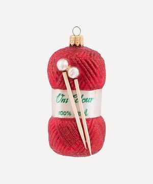 Yarn with Knitting Needles Tree Ornament