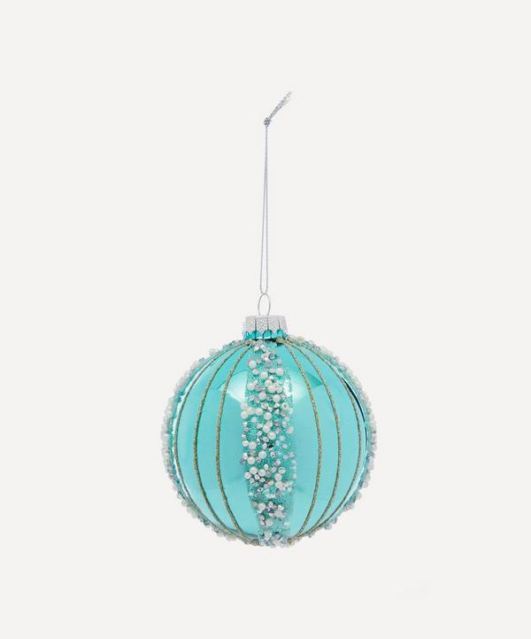 Unspecified - Glitter Band Glass Bauble