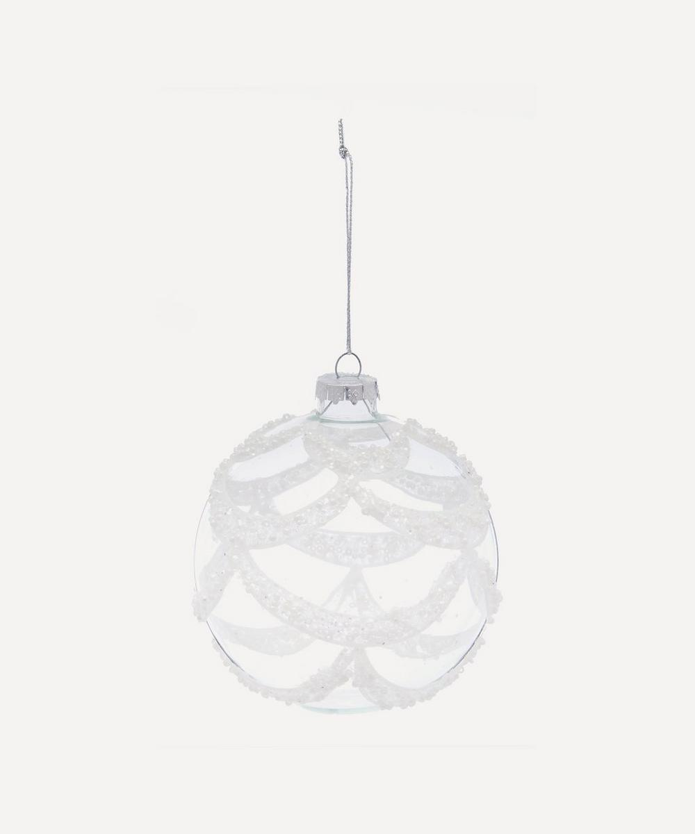 Unspecified - Scallop Embellished Glass Bauble