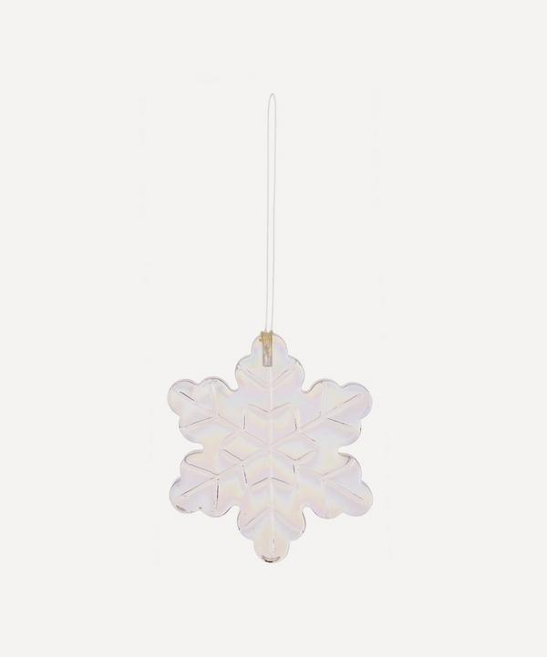 Unspecified - Iridescent Glass Snowflake Tree Ornament
