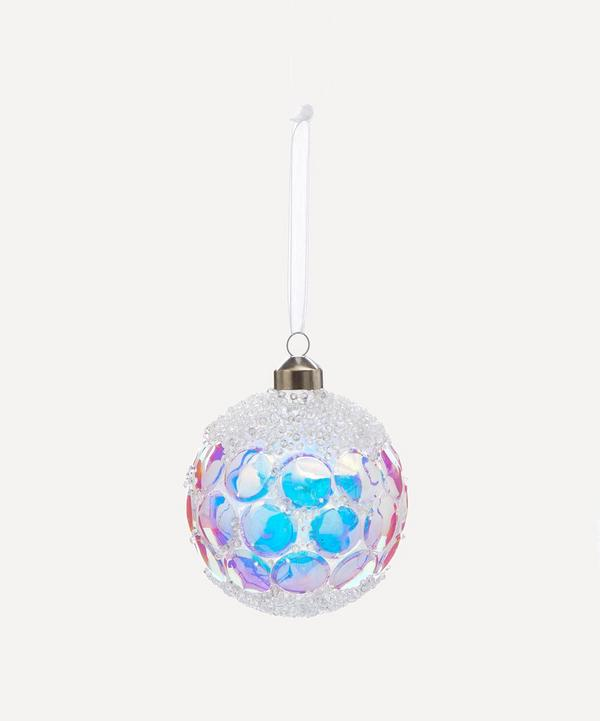 Unspecified - Iridescent Sequin Glass Bauble