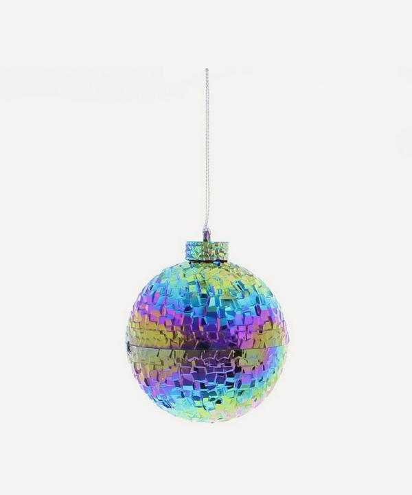Unspecified - Iridescent Petrol Effect Bauble