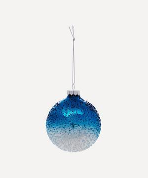 Metallic Frost Glass Bauble