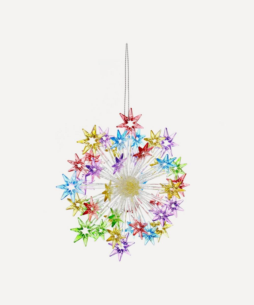 Unspecified - Multicolour Glitter Starburst Tree Ornament