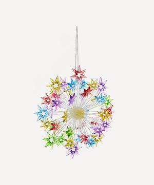 Multicolour Glitter Starburst Tree Ornament
