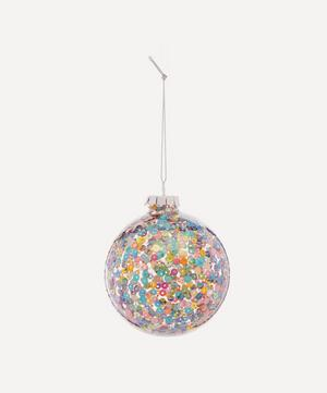 Multicoloured Sequin Clear Glass Bauble