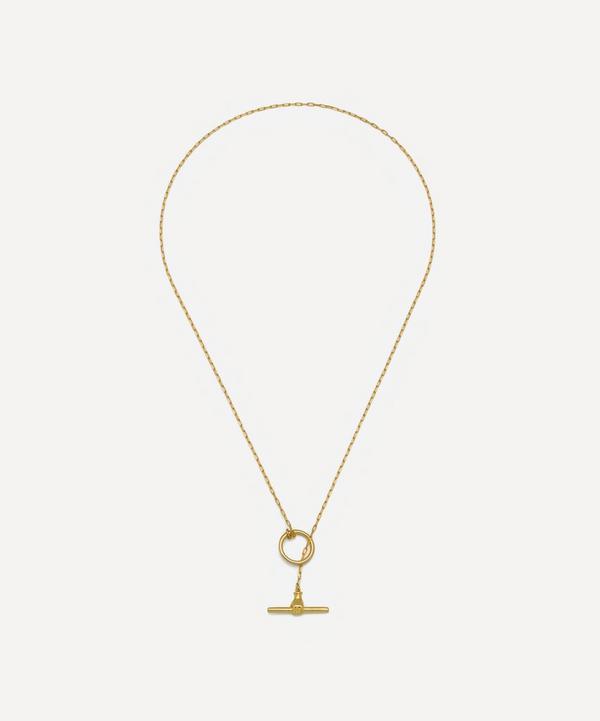 Estella Bartlett - Gold-Plated T-Bar Link Necklace