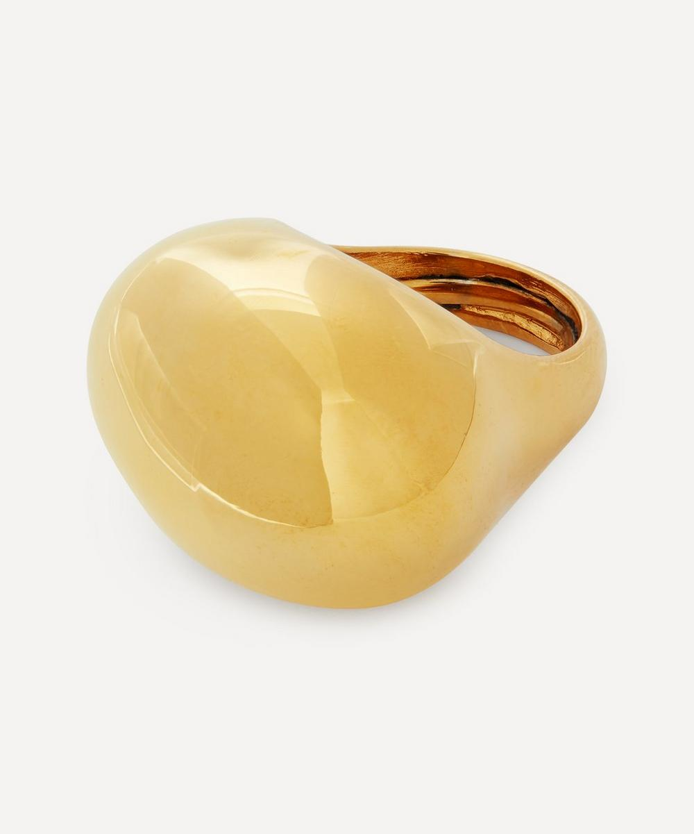 Kenneth Jay Lane - Gold-Plated Large Dome Ring