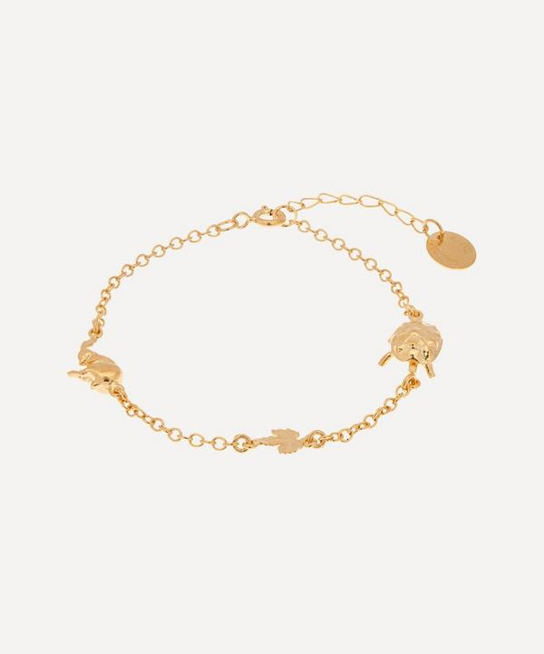Alex Monroe - Gold-Plated The Tortoise and the Hare In-Line Bracelet