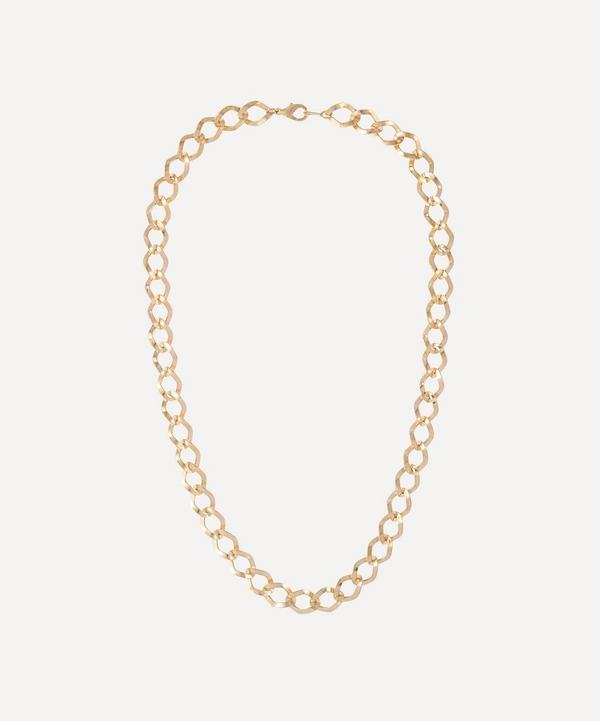 Susan Caplan Vintage - Gold-Plated 1990s Rhombus Chain Necklace