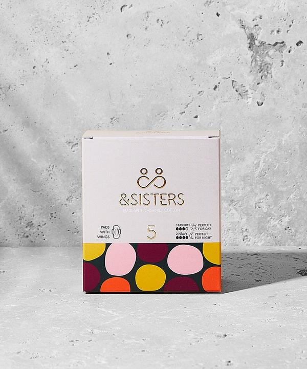 &SISTERS - Organic Cotton Pads with Wings 5 Pack
