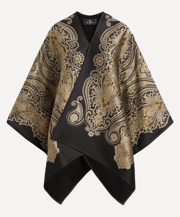 Etro - Paisley Jacquard Wool-Blend Cape