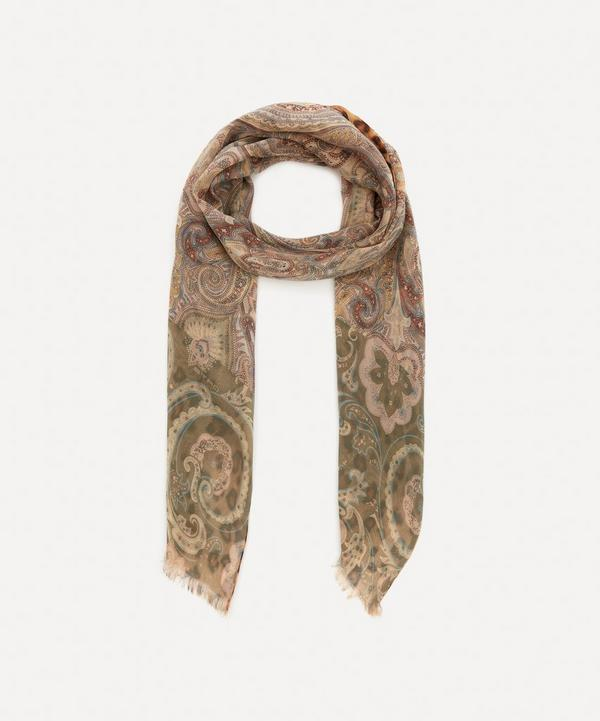 Etro - Double-Sided Leopard and Paisley Print Silk Scarf