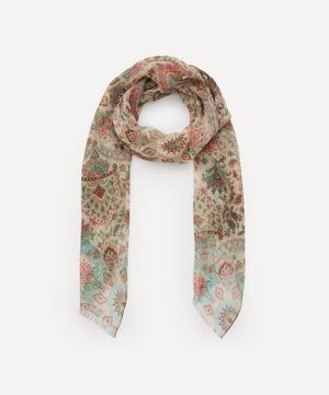 Paisley Print Silk Chiffon Scarf