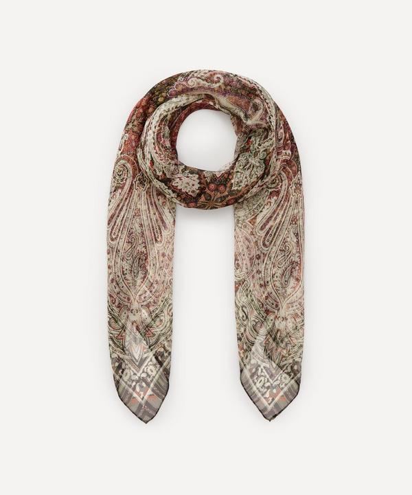Etro - Faded Paisley Print Silk Scarf