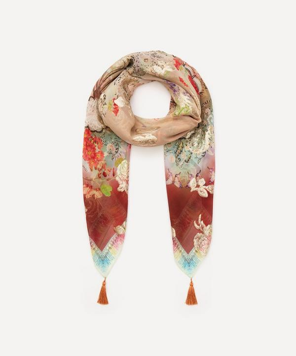 Etro - Floral Silk-Blend Tassel Scarf