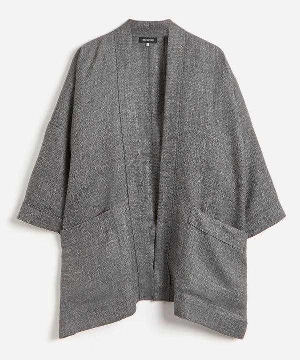 Eskandar - Pleated Open Wool-Blend Jacket