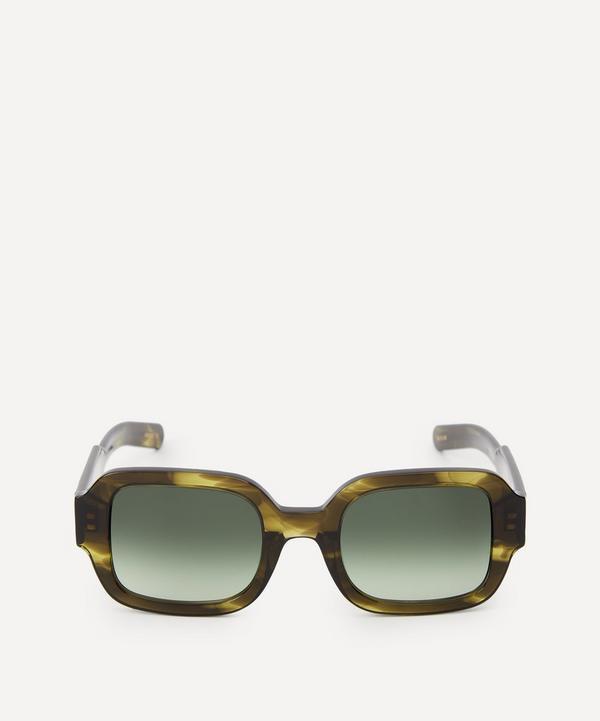 Flatlist - Tishkoff Olive Horn Sunglasses