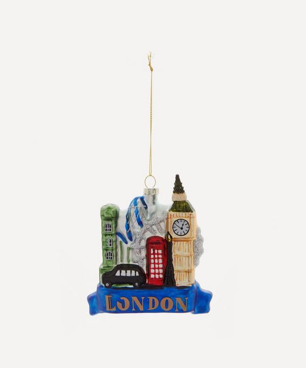 Unspecified - London Skyline Glitter Glass Tree Ornament