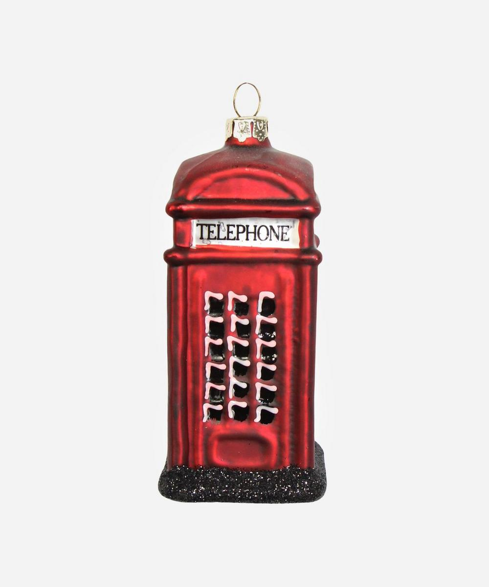 Unspecified - London Telephone Box Glass Tree Ornament