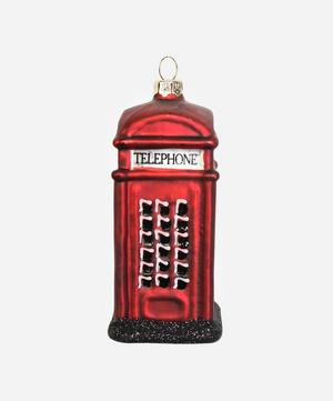 London Telephone Box Glass Tree Ornament