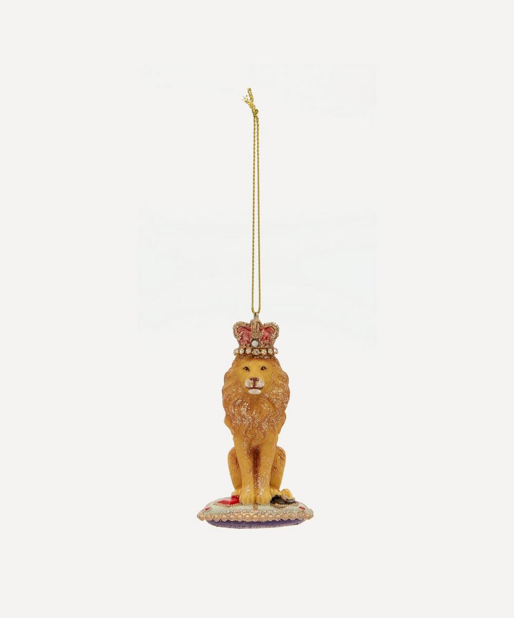 Unspecified - Regal Lion on Cushion Tree Ornament
