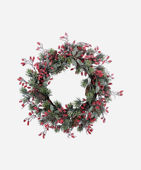 Unspecified - Fir and Rosehip Glitter Wreath