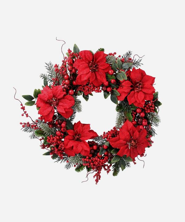 Unspecified - Berry and Poinsettia Wreath