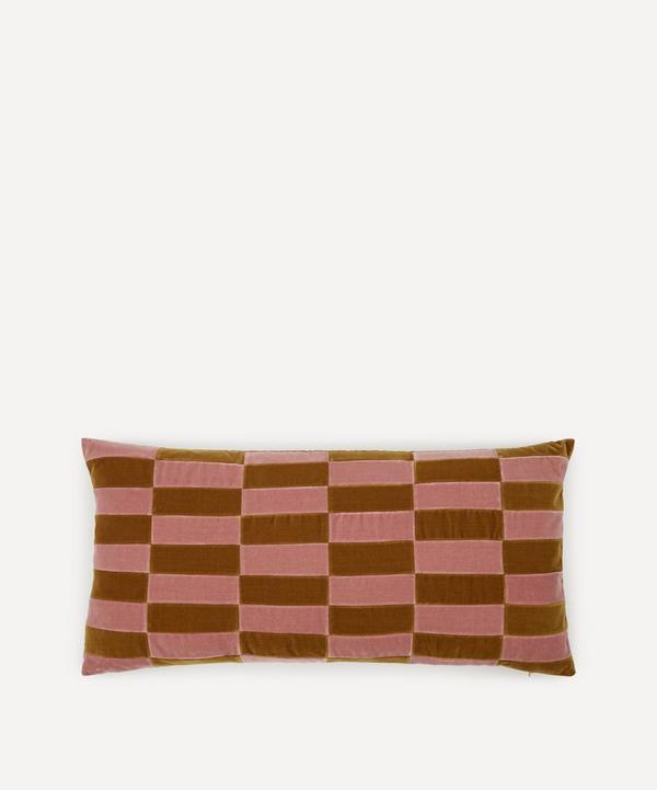Christina Lundsteen - Holly Checked Cotton Velvet Cushion