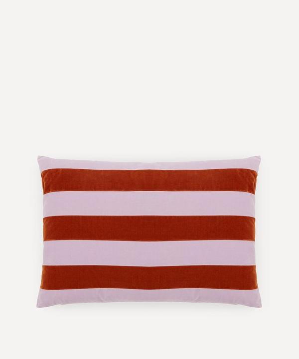 Christina Lundsteen - Zarah Striped Cotton Velvet Cushion