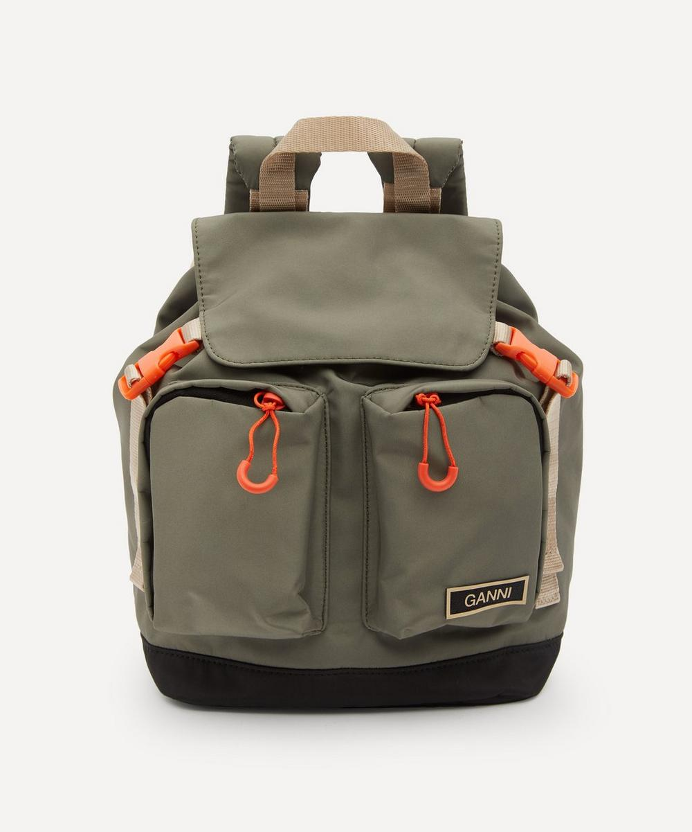 Ganni Backpacks SMALL RECYCLED TECH FABRIC BACKPACK